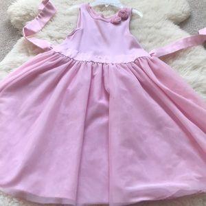 Girls softy pink dress